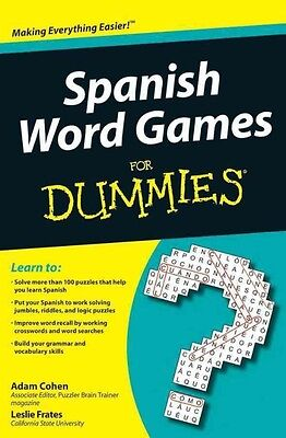 Spanish Word Games For Dummies by Adam Cohen Paperback Book (English)