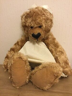 """Russ Collectible Teddy Bear ~ SANDY IN DRESS ~ 12"""" Soft Plush Toy"""