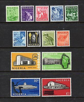 Nigeria 1961 Definitive Set Complete To £1 Sg 89-101 Mounted Mint High Cat £30