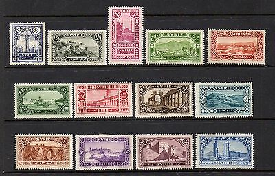 SYRIA 1925 DEFINITIVE SET MOUNTED MINT EXCEPT 2p USED SG 175-187 - HIGH CAT £20