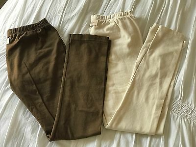 Girl's PERSNICKETY 2 Pair Brown And Cream Leggings Pants - Knit - Size 10 & 12