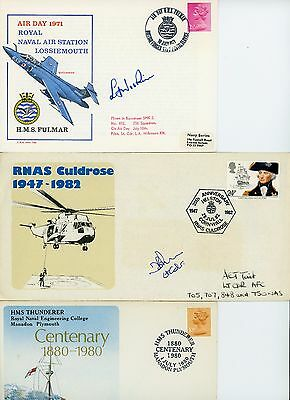 3 Royal Navy,  First Day Covers,  3 Pilots signed, RNAS Lossiemouth, Culdrose +