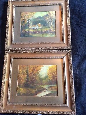 pair of small oil paintings
