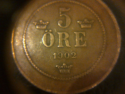 1902 5 Ore Coin Norway