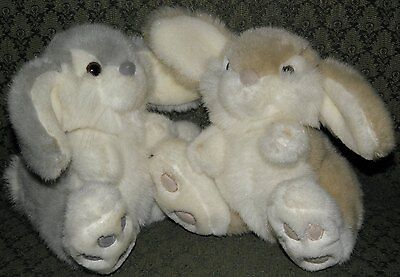 Pair of Stuffed Floppy-Eared Bunnies