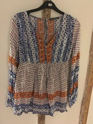 Size 10 Hippy Maternity Top Blouse By Blooming Marvellous