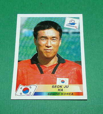 N°346 Ha Coree Sud South Korea Panini Football France 98 1998 Coupe Monde Wm