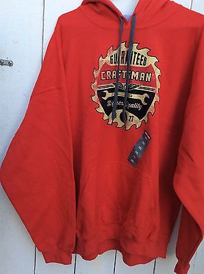 BRAND NEW Sears Craftsman Mens Performance Hoodie XXL Red Hooded Sweatshirt