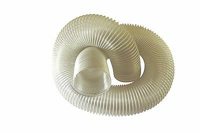 """Heavy Duty Dust Collection Hose, 4"""" x 50', Flex Clear, 25 mil Thick Walls, PHC-6"""