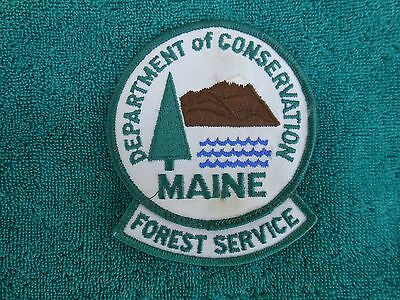 Maine Forest Service Patch And Tab