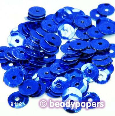 Cup Plastic Sequins 6 - 7 mm Bright Blue 50 g, 30 g, 15 g 9112