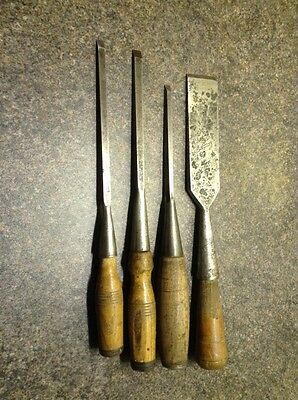 4 Socketed Wood Chisels .