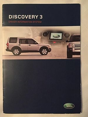 Land Rover DISCOVERY 3 Driver Information System Booklet