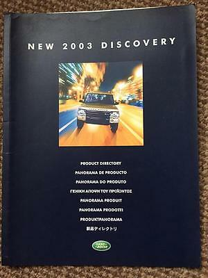 Land Rover -NEW 2003 DISCOVERY Product Directory Brochure