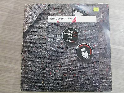 JOHN COOPER CLARKE snap crackle & bop UK 1ST PRESS LP EPC84083 see desc.