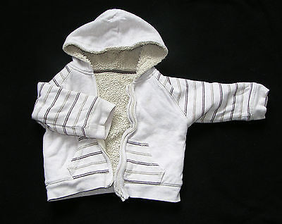 Boys Hoodie jumper with zip - lined  - 9-12 months