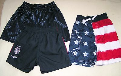 Boys summer swimming shorts and shorts - 18-24 months x3
