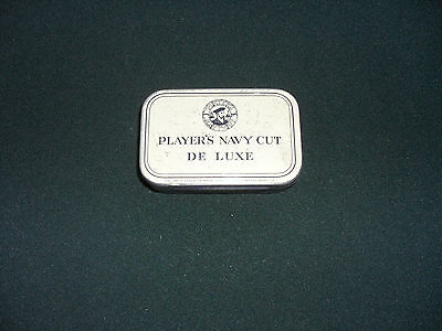 Vintage Tobacco Tin Players Navy Cut De Luxe With A Hinged Lid-Empty