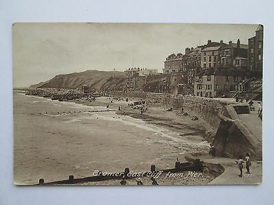 Old Postcard - East Cliff From Pier , Cromer , Norfolk .