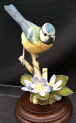 Country Artists- Blue Tit With Clematis