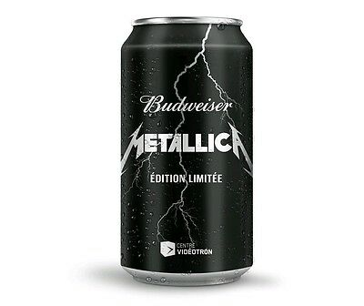 Budweiser Beer Metallica Limited Edition opened/EMPTY can