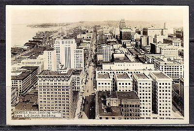 Seattle, WA, Looking North From L. C. Smith Building, Real Photo