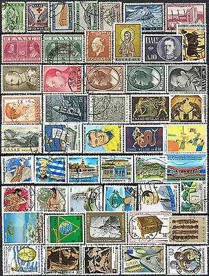 Greece. Mixed selection of 50 used stamps.