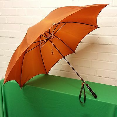 Vintage Lady umbrella, straight wooden handle , Fox  Paragon, Made in england