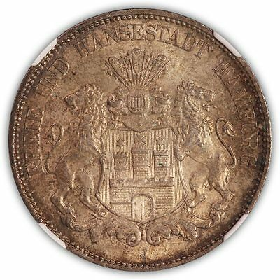 1908 J Germany NGC MS63 Hamburg