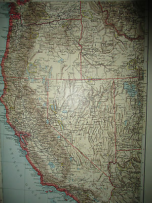 ORIGINAL 1900s ANTIQUE Map Pacific States of the Union RARE FIND US map 11x16.5