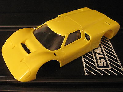Strombecker Yellow Ford J Body 1/32 Scale Slot cars
