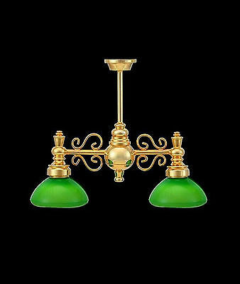 1:12 Scale Working Green 2 Arm Down Study Game Light Dolls House Miniature 6063G