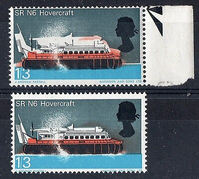 GB..ERROR.- SINKING HOVERCRAFT - 1966 1/3d TECHNOLOGY - MNH - ORD..