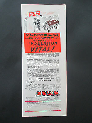 """Vintage 1938 Donnacona Insulating Products Print Ad, 13.875"""" X 5.5"""""""