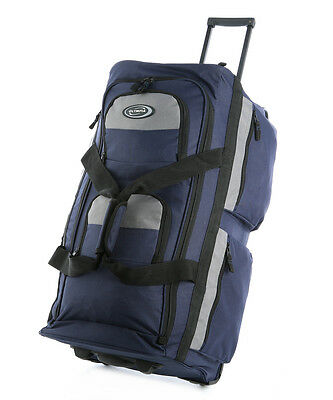 Olympia 26 8 Pocket Rolling Wheeled Luggage Suitcase Travel Tote Duffel Bag Na