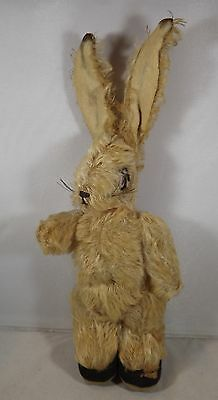 "VINTAGE 1930s 11"" CHAD VALLEY JOINTED MOHAIR RABBIT WITH POSEABLE EARS"