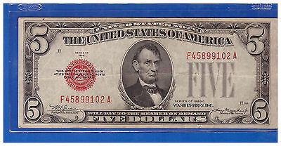 1928-C Series $5 United States Note- Legal Tender Note Lot R514