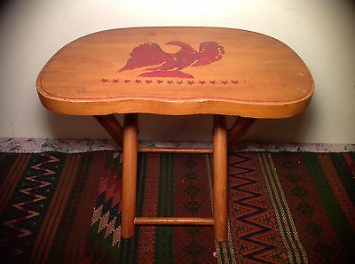Vintage Nevco Fold' N Carry Patented Wooden Stool