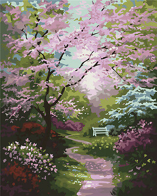 "16X20"" Paint By Number Kit DIY Acrylic Painting on Canvas Flowers 898"