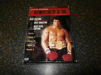 Rocky 1 to 5 Dvd Collection Dvd Box Set