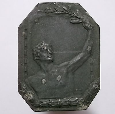Swimming Medal 1918 (Germany) Zinc - During the WWI