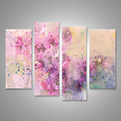 pastellt ne blumen mit aquarell effekt bild auf leinwand. Black Bedroom Furniture Sets. Home Design Ideas
