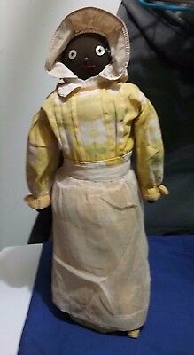 """Vintage Black Americana Standing Home Made 15"""" Doll"""