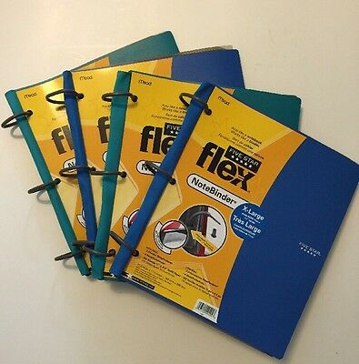 Lot of 4 Five Star Binder Flex Notebinder, New Extra Large 29494 Holds 1.5 Inch+