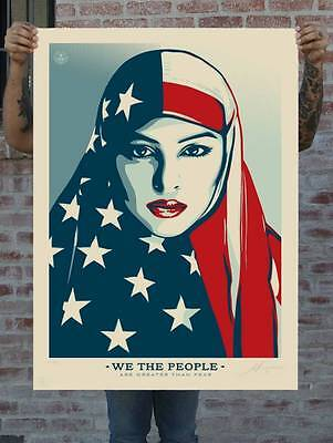 Shepard Fairey Greater Than Fear Print Lf Large Format Not Banksy Kaws Invader