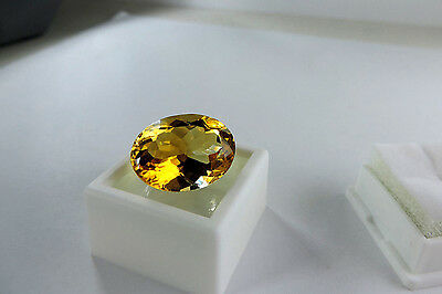Sweet 16.30ct Ural Mountain, Russian Citrine.Cut by me :)