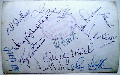 Wolves 1949 Fa Cup Winner Autographed Football Postcard
