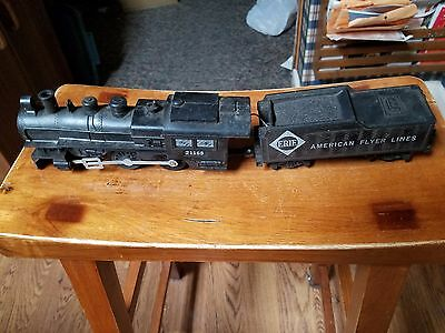 Vintage American Flyer Engine 21165 and Erie Tender, S guage
