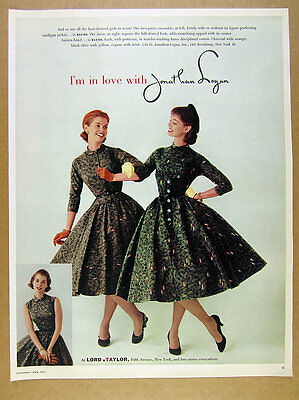 1955 Jonathan Logan dress & cardigan jacket photo Lord & Taylor vintage print Ad