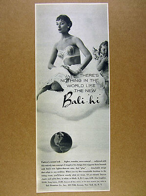 1955 Bali Hi Strapless Bra beautiful woman photo vintage print Ad